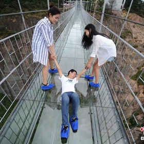 Walk on the brave men's bridge (glass bridge) - Bucket List Ideas
