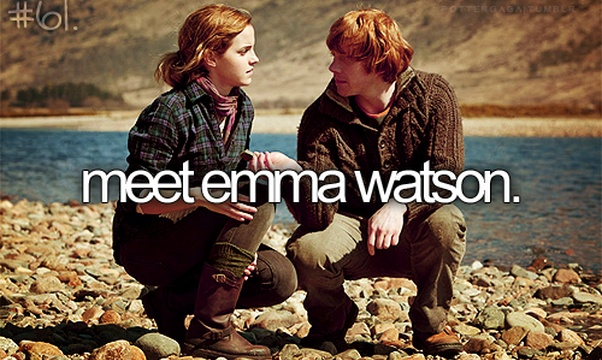 Meet Emma Watson - Bucket List Ideas