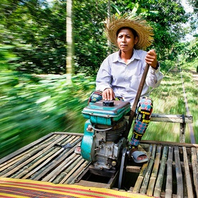 Ride a Bamboo Train in Cambodia - Bucket List Ideas