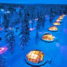 Stay in the Glass Igloo Village Hotel, Finland - Bucket List Ideas