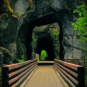 See the Old Railroad tunnels at Hope, BC - Bucket List Ideas