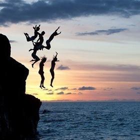 Cliff diving into the ocean - Bucket List Ideas
