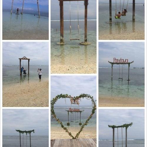 Swing in the sea ~Gili Islands - Bucket List Ideas