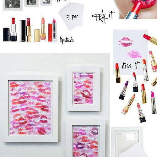 Make a lip print wall art - Bucket List Ideas