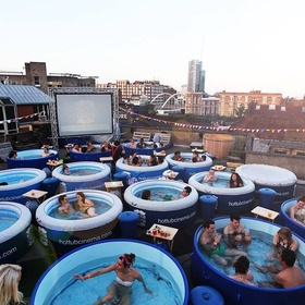 Watch movie at Hot Tub Cinema, London - Bucket List Ideas