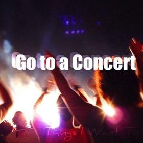 Go to a concert - Bucket List Ideas