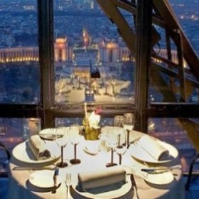 Dine on the Eiffel Tower - Bucket List Ideas