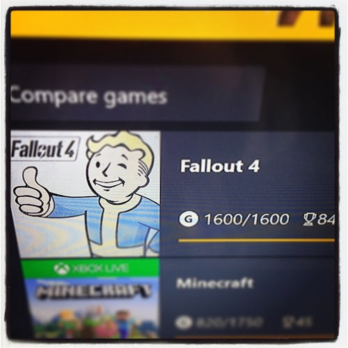 Complete 100% of achievements for Fallout 4 - Bucket List Ideas