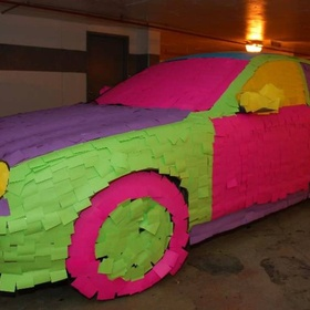 Cover a car in Post-Its - Bucket List Ideas