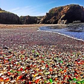 Go on a GLASS BEACH - Bucket List Ideas