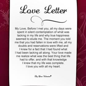Recieve a love letter - Bucket List Ideas