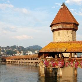 Walk across the Kapellbrücke in Switzerland - Bucket List Ideas