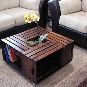 Build a Crate Coffee Table - Bucket List Ideas