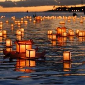 Attend A Lantern Floating Event in Hawaii - Bucket List Ideas