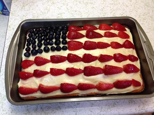 Make an American Flag Cake - Bucket List Ideas