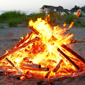 Have a Campfire on the Beach at Night - Bucket List Ideas