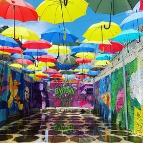Visit Umbrella Alley in Bayton Texas - Bucket List Ideas