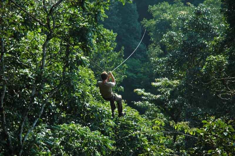 how to ride a zipline