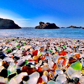 Go to Glass beach | California | USA - Bucket List Ideas