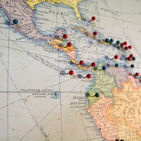 Buy a map of the world and pin all the places ive been - Bucket List Ideas
