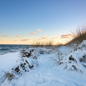 Go to a beach in the snow - Bucket List Ideas