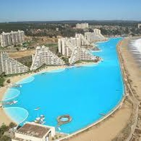 Swim at the largest pool in the world in the San Alfonso del Mar Resort in Algarobbo, Chile - Bucket List Ideas