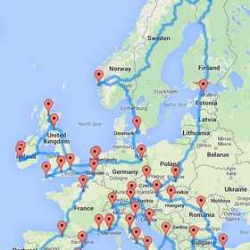 Go on a road trip across europe - Bucket List Ideas