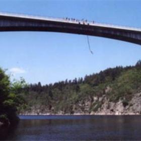 Bungee jumping from Zvikov Bridge - Bucket List Ideas