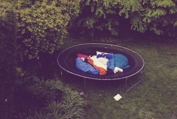 Sleep on a trampoline - Bucket List Ideas