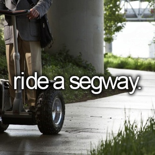 Try a Segway - Bucket List Ideas