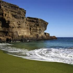 Go on a GREEN SAND BEACH - Bucket List Ideas