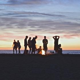 Build a campfire on the beach - Bucket List Ideas
