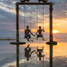Swing in the sea ~Gili Islands - Bucket List Ideas
