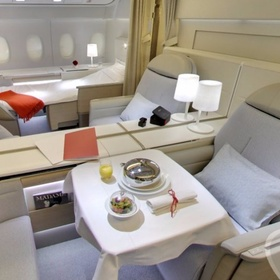 Fly first class on a plane - Bucket List Ideas
