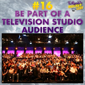 Be Part of a Television Studio Audience - Bucket List Ideas