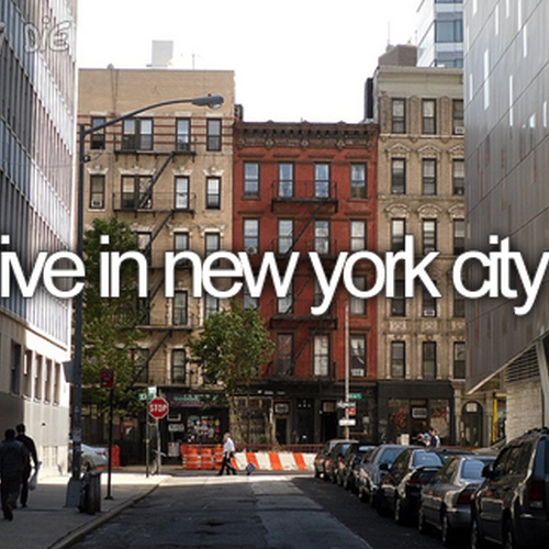 Live in New York City - Bucket List Ideas