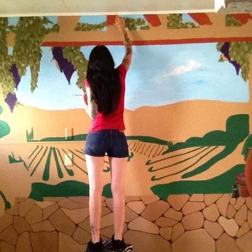 Paint a vinyard mural in my kitchen - Bucket List Ideas