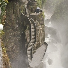Climb the Staircase at Pailon del Diabo waterfall Equador - Bucket List Ideas
