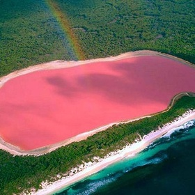 Wade in the Pink Lake - Bucket List Ideas