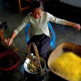 Learn how Silk is made in Laos - Bucket List Ideas