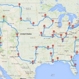 Go on a Cross Country Road Trip in the USA - Bucket List Ideas