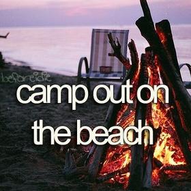Camp out on Beach - Bucket List Ideas