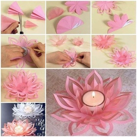 Make a lotus flower candle - Bucket List Ideas