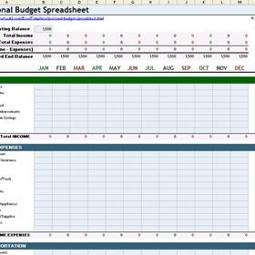 Make a budget in excel - Bucket List Ideas