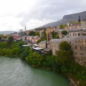 See the view from Old Bridge in Mostar, Bosnia adn Herzegovina - Bucket List Ideas