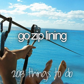 Do the zip line in Costa Rica - Bucket List Ideas