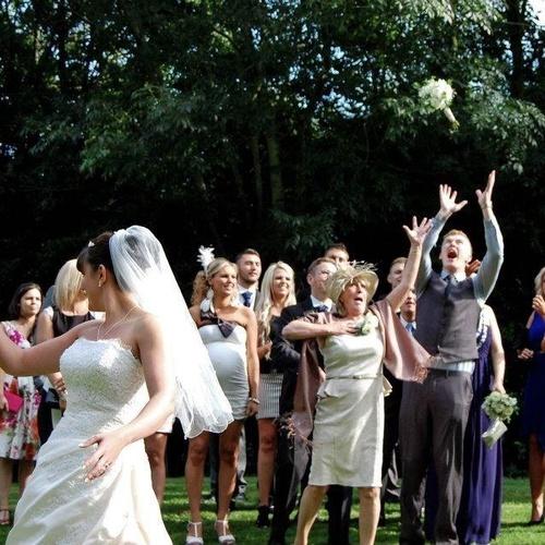 Catch a bouquet at a wedding - Bucket List Ideas