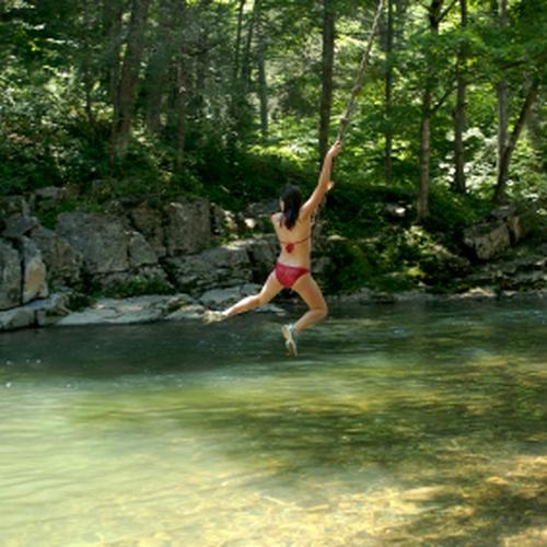 Rope swing into water - Bucket List Ideas