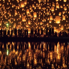 Participate in the Yi Peng Lantern Festival - Bucket List Ideas