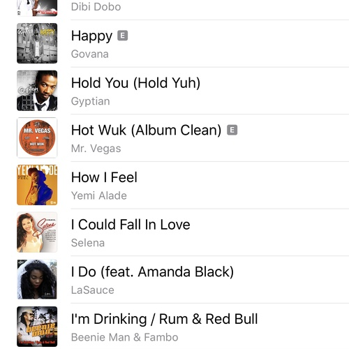 Create a playlist of at least 30 songs originating from 30 different countries - Bucket List Ideas